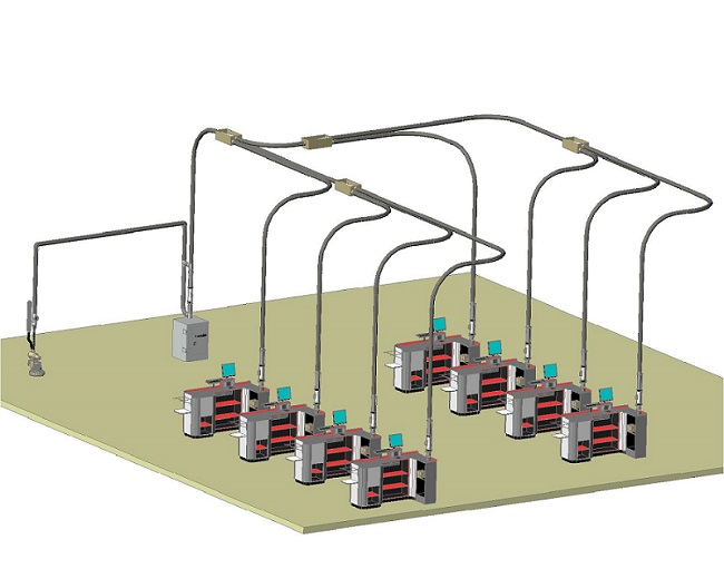 Ac m pneumatic tube system aerocom