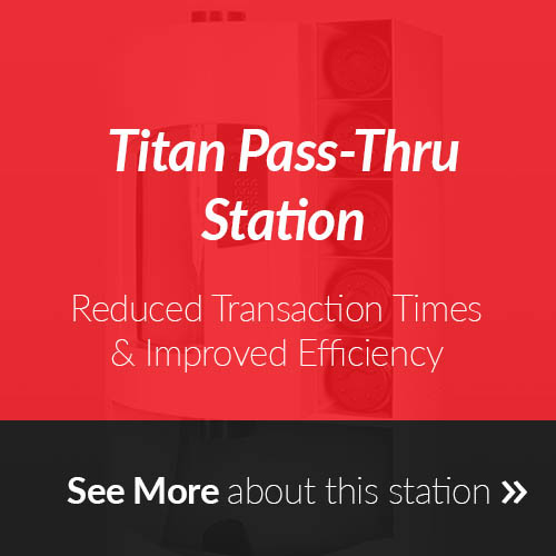 Titan Pass-Thru Station for Pneumatic Tube Systems